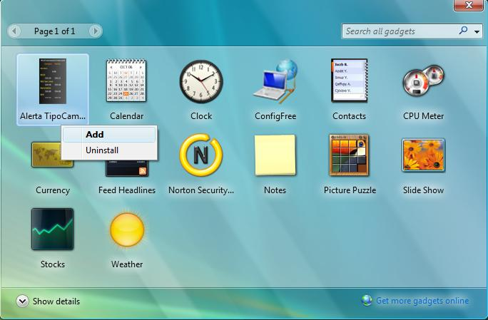 Agregar Gadget Al Windows SideBar