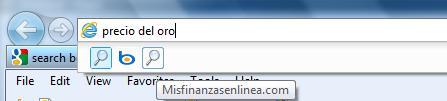 Motor de Búsquedas en Internet Explorer 9